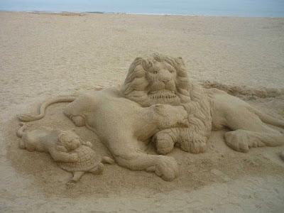 estatua de arena